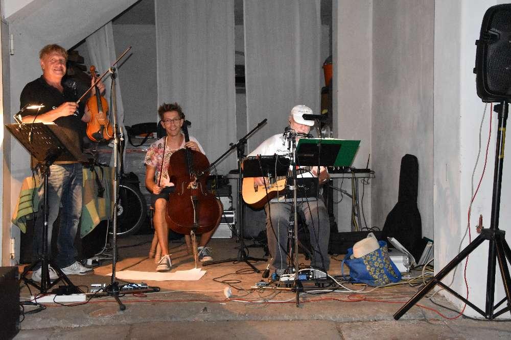 Tag des offenen Weingutes - Der Winzer selbst am Cello